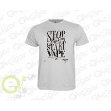 Tshirt Stop Smoke Start Vape